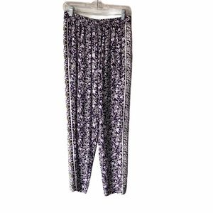Rebecca Taylor Indian Floral Pants Purple 6